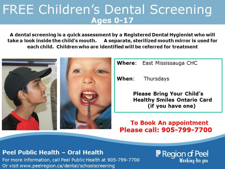 Free Children's Dental Screening!