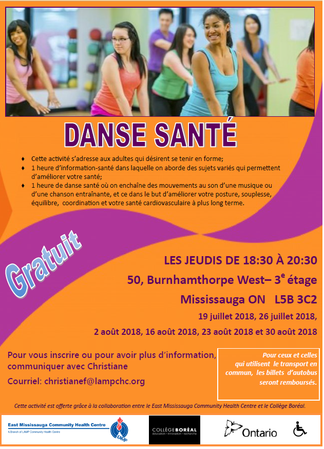 Danse Santé pour tous !  Healthy Dance offered in French
